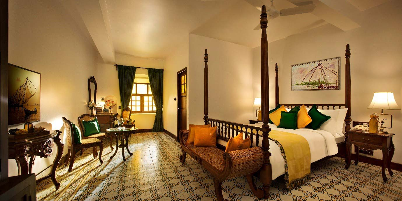 colonial heritage rooms at forte kochi