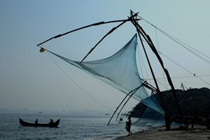 Fishing at Kochi backwaters